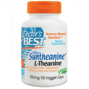 Suntheanine L-Theanine, 150 mg, 90 Veggie Caps - Doctor's Best - UK Seller