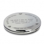 Mother of the Bride Compact Mirror Personalised Beauty . Present Gift