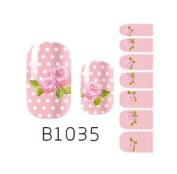 Nail Art Foils Patch Polish Stickers - B1035 Nail Sticker Tattoo - FashionLife