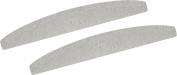 2 x Nail File 140 / 180 Grit Washable Foam Inner Manicure Grey Half Moon