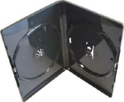 Vision Media 25 x Double Black Amaray DVD/CD/BLU RAY Case