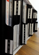 26 x Black Vertical CD Collection Tabbed Dividers Suitable for Shelf Storage