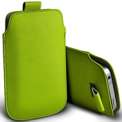 Digi Pig - Nokia Lumia 635 Colour PU Leather Pull Tab Case Cover Pouch - Green