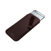 Lucrin - iPhone 6 case with pull-up strap - Burgundy - Smooth Leather