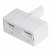 Cable-Core BT Telephone Double Adaptor Splitter