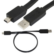 40cm USB 2.0 A male plug to Mini 5 PIN 5pin Male MP3 leads Data Flat short cable