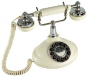 GPO Opal Push Button Nostalgic Telephone in Cream and Chrome effect