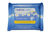 Natracare Organic Cotton Intimate Wipes - 24 x Packs of 12