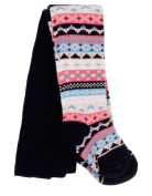 Bright Bots 12/18m Baby Girls Tights Cosy Patterned - Navy Blue