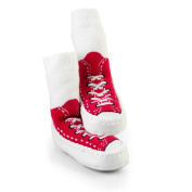 Mocc Ons Sneaker Slippers - 18-24 Months, Red