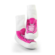 Mocc Ons Sneaker Slippers - 6-12 Months, Fuchsia