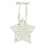 Bambino Baby Guardian Angel Star Plaque Decoration - lights fade stars appear guardian angels gather here