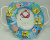 Baby Soft Padded Potty Training Toilet Seat With Handles Sponge Bob.