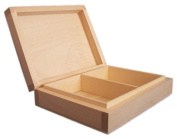 PLAIN WOOD - WOODEN BOX FOR 2 SETS OF PLAYING CARDS DECOUPAGE