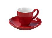La Cafetiere Parisienne Espresso Cup and Saucer, Red