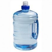 Sports Blue H2O Round Water Bottle Drink Container with Handle 1L/2L Push Cap