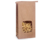 0.5kg. Tin Tie Bag Bakery Bag w/ Window - Kraft 50 Pack