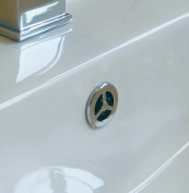 Superb Quality Bathroom Basin / Sink Overflow Cover Monaco Insert in Silver Colour