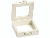 KnorrPrandell 7 x 7 x 2.5 cm FSC Wooden Box with Glass Window, Brown