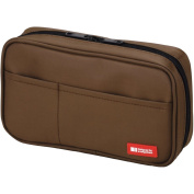 Lihit Lab Teffa Pen Case - Book Style - Brown [Office Product]