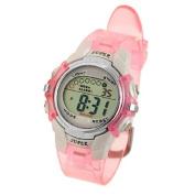 TOOGOO(R) Children Pink Band Water Resistant Sports Digital Watch