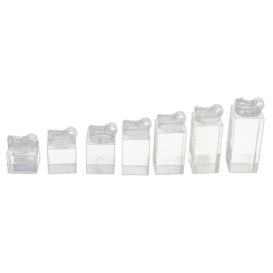Gleader Set of 7 Clear Acrylic Ring Clip Display Stand Jewellery Riser Holder