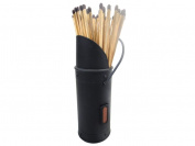 Fireplace Black Match Holder, Striker And Fire Matches