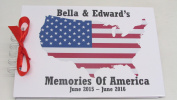 PERSONALISED TRAVEL AMERICA USA EMIGRATING PRESENT GIFT SCRAPBOOK ALBUM BOOK. in the UK
