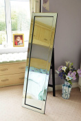 Large Very Modern Mitered Venetian Free Standing Cheval Dressing Mirror