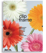 Innova Editions 60 x 80 cm/ 32 x 24-inch Plastic Safety Glass Frame for Picture or Poster with Clips and White Edged Backing Board