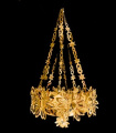 90cm Deluxe Gold Foil Chandelier Christmas Decoration