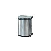 Wesco Built-In Waste Bin / Opens with Swing Doors / Kitchen Bin / Round / 15 Litres / Stainless Steel