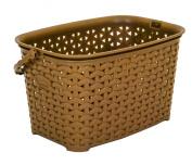 Quality Brown Hobby Rattan Style Plastic Peg Basket Box