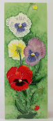 Pansies a Benaya ceramic art tile as if they are alive with detail bold colours a perfect decorative wall tile decorative wall tile gift purchase