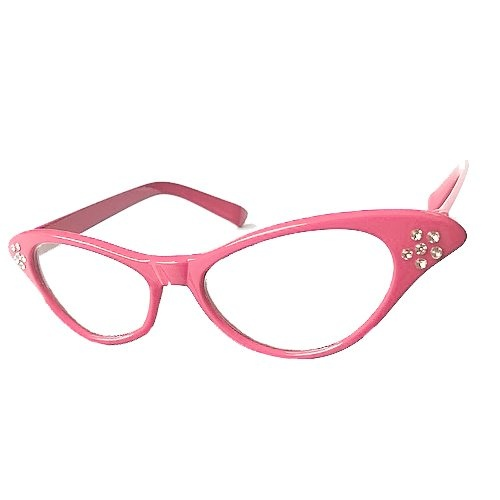 9bbf75eac6d2 WMA Pink 50 s Grease Ladies Rock and Roll Fancy Dress Glasses by ...
