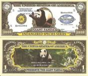 Novelty Dollar Giant Panda Endangered Species Dollar Bills X 4