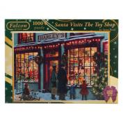Falcon de Luxe - Santa Visits The Toy Shop Christmas Jigsaw Puzzle