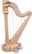 Harp - QUAY Woodcraft Construction Kit