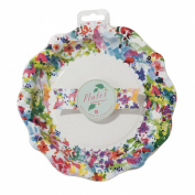Talking Tables Floral Fiesta Large Colourful Paper Plates for a Tea Party, Birthday or Luau Party, Multicolor