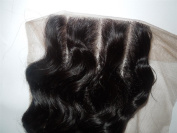 3 Way Part 4*4 Lace Top Closure 41cm Indian Virgin Remy Hair Deep Wave natural colour Expedited Shipping 1-3days By UPS