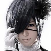 Wigle 12 Inche High Quality Mordor Black Butler Kuroshitsuji Ciel Phantomhive Cosplay Wig with Free Wig Cap