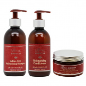"Royal Moroccan Sulphate-free Shampoo & Conditioner 300ml & Hair Mask Treatment 250ml ""Set"""
