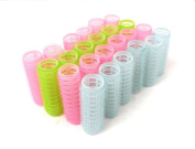 24pc x 1.9cm Diameter Self Grip hook and loop Hair Rollers Pro Salon Hairdressing Curlers Small