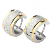 JOVIVI® Pair Mens Womens Stainless Steel Huggie Hinged Hoop Earrings, Different Colour in Available