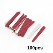 DMtse 100pcs Red Disposable Nail File