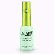 Gellen Soak Off Gel Top Coat 0.42 Fl Oze 12ml Green Bottle Packaged