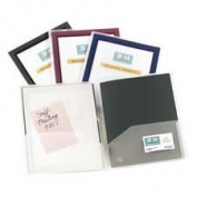 Avery Consumer Products Products - 2-Pocket Folder, With Front Window, Letter-Size, 2/PK, Navy - Sold as 1 PK - Two-pocket folders feature a translucent front cover with a colourful border to accent your customised title page. Simply insert customised  ..
