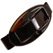 Parcelona French Oval Buckle Celluloid Tortoise Shell Hair Clip Barrette - Approx 8.9cm Long