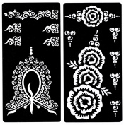 Zaffron Henna Mehendi Mehndi Stencil Sheets for Eid Ramadan Mehendi Raat or Wedding Parties