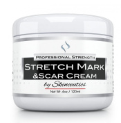 Professional - Best - Stretch Mark Cream from Skinceutics Ideal for Removal Prevention Treatment of Stretch and Scar Marks For Men & Women Perfect for Pregnancy Includes Shea Cocoa & Mango butter w/ Organic Oil Made in USA